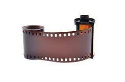 35 mm film cartridge Royalty Free Stock Photos