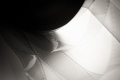 35 mm film detail with movie reel Royalty Free Stock Photos