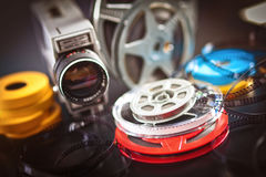 8mm film movie. Vintage 8mm film concept of movie industry Royalty Free Stock Image