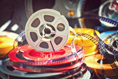 8mm film movie. Vintage 8mm film concept of movie industry Royalty Free Stock Photos