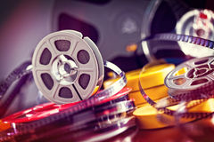 8mm film movie. Vintage 8mm film concept of movie industry Royalty Free Stock Photography