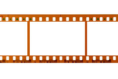 35mm film strip, blank frames, white background Stock Photography
