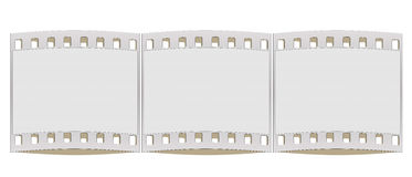 35mm film strip frame Stock Photos