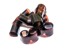 35mm film strip isolated Stock Photos