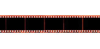 35 mm film strip isolated on white Royalty Free Stock Photography