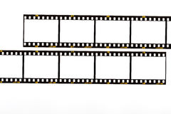 35mm. film strip. 35mm film strip isolated on white filmrolle film for camera stock photos