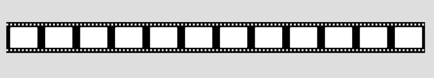 35 mm film strip vector. Filmstrip vector Royalty Free Stock Photo