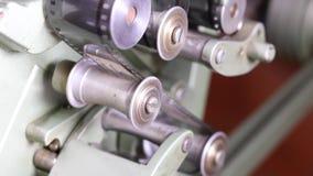 35mm film vintage editor stock video footage