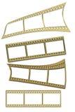 mm 35 film złoto Obrazy Stock