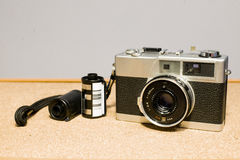 35mm Filmcamera's, en films Stock Foto