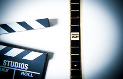 35mm filmhoofd van spoel met Stock Fotografie