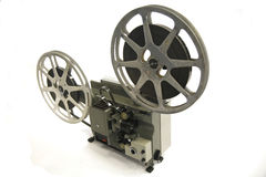 16mm filmprojektor Fotografering för Bildbyråer