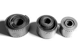 35mm filmstrook die op witte achtergrond wordt geïsoleerd Royalty-vrije Stock Afbeeldingen