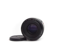 50 mm fixed lens Black Ground White. 50 mm fixed lens Black Ground White Royalty Free Stock Images