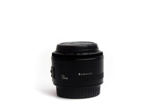 50 mm fixed lens Black Ground White.  Stock Photography