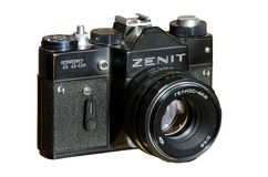 35mm fotocamera zenit-TTL Royalty-vrije Stock Afbeeldingen