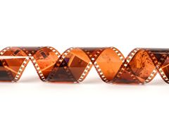 35mm fotografii film Starej fotografii ekranowy negatyw odizolowywający na bielu Fot Zdjęcie Royalty Free