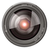 24mm front lens. Stock Photos