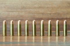 9mm Gewehrkugeln Stockfotos