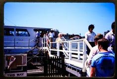 35 mm glijdt uitstekende de reis en de familieuitjes van 1970 ` s Stock Afbeeldingen