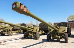 152 mm granatnik 2A65 MSTA-B Obrazy Stock