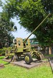57 mm gun AZP S-60 in Military History Museum, Hanoi Stock Photo