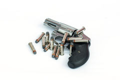 .357 mm gun. 357 mm. gun isolate on white background Royalty Free Stock Photography