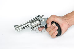 .38 mm. gun isolate on white background Stock Photos