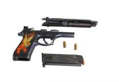 9 mm gun Stock Photo