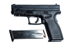 9mm handeldvapen Arkivbild