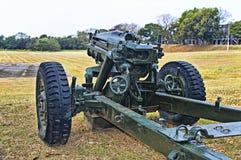 75mm haubits M1 på skärm, Corregidor, Filippinerna fotografering för bildbyråer