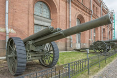 127-mm heavy field gun Armstrong system. Weight, kg: guns - 5435 Stock Images