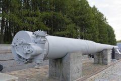 305mm het slagschip van het kanonvat (1914) Gewicht, kg: vat 50.560; Stock Afbeelding