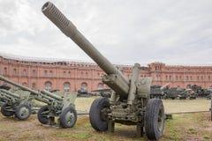 152mm houwitser-kanon ml-20 Royalty-vrije Stock Afbeeldingen