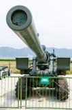 203 mm-houwitsertijden van de Tweede Wereldoorlog Museum van militar Stock Fotografie