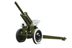 122 mm howitzer Soviet army Royalty Free Stock Photo