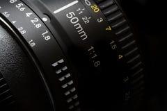 50mm kamera Lens för fotografivideo Arkivbild