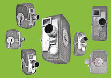 8mm kameror Arkivbilder