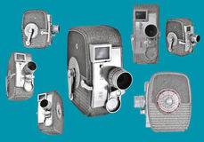8mm kameror Fotografering för Bildbyråer