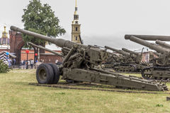 180mm kanon s-23, mod. 1956 Royalty-vrije Stock Afbeelding