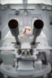 30mm kanonnen van torpedoboot Royalty-vrije Stock Afbeeldingen