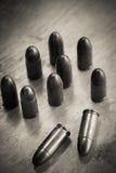 9mm Kugel für ein Gewehr Lizenzfreies Stockbild