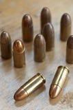 9mm Kugel für ein Gewehr Stockfoto