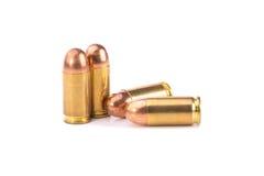 9mm Kugel für ein Gewehr auf weißem Hintergrund Lizenzfreie Stockbilder