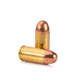 9mm Kugel für ein Gewehr lokalisiert auf weißem Hintergrund Lizenzfreie Stockfotografie