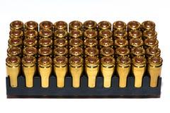 9mm Kugeln für ein Gewehr Stockfotos