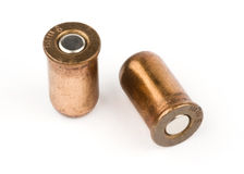 9mm Kugeln lokalisiert Stockbilder