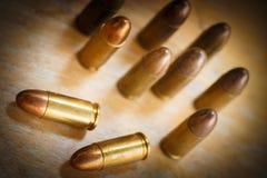 9mm kula för ett vapen Royaltyfri Bild