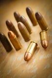 9mm kula för ett vapen Arkivbild