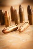 9mm kula för ett vapen Arkivfoto